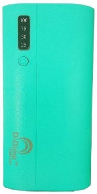 d dime 12000 mAh Power Bank  Fast Charging, 18 W  Green, Lithium ion