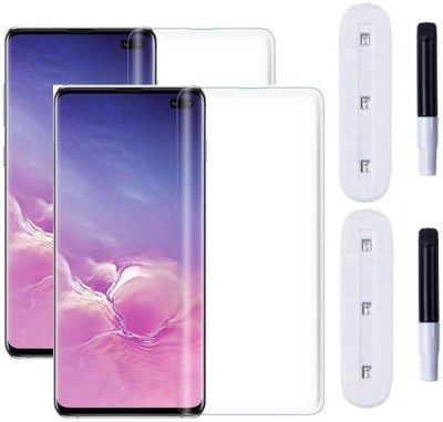 Dainty Edge To Edge Tempered Glass for Samsung Galaxy S10 Plus, Samsung Galaxy S10+(Pack of 2)