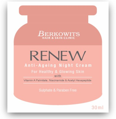 Berkowits Renew Anti-Ageing Night Cream for Healthy and Glowing Skin(30 ml)
