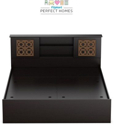 Flipkart Perfect Homes Rhapsody Engineered Wood Queen Box Bed(Finish Color - Espresso)