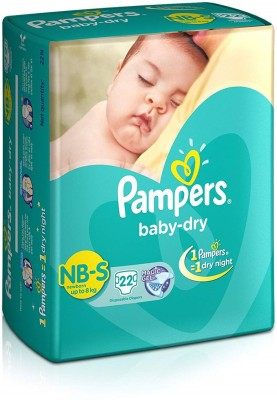 Pampers Baby Dry NB S 22 tape Diaper   New Born 22 Pieces
