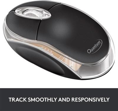 Quantum QHM222 Wired Optical Mouse USB, Black Quantum Mouse