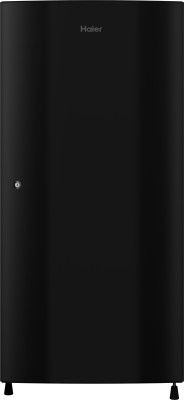Haier 195 L Direct Cool Single Door 3 Star  2020  Refrigerator   Black Brushline, HRD 1953CKS E