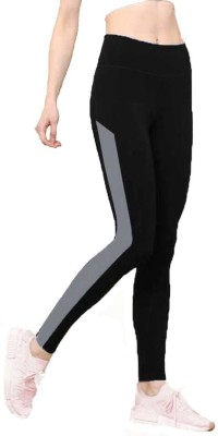 RDS WEAR Solid Women Black Tights