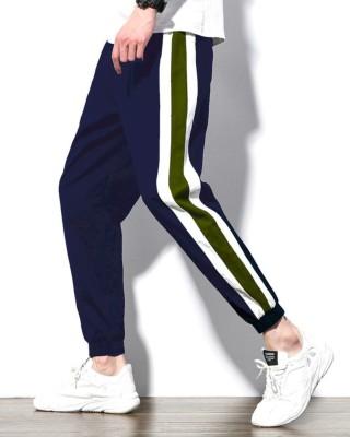FastColors track pants lower men mens wear boys Solid Men Dark Blue Track Pants