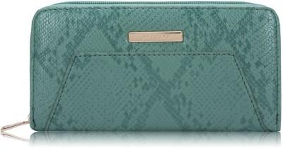 Caprese Women Green Artificial Leather Wallet(6 Card Slots)
