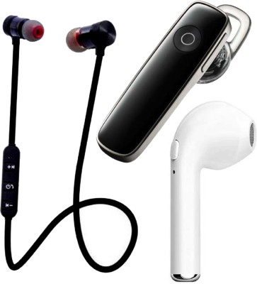 N2B MAGNET-K1-I7 Pack of 3 Bluetooth Bluetooth Headset(Black, White, True Wireless)