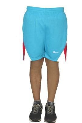 sampy Solid Men Light Blue Sports Shorts