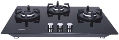 Whirlpool Glass Manual Gas Stove(3 Burners)