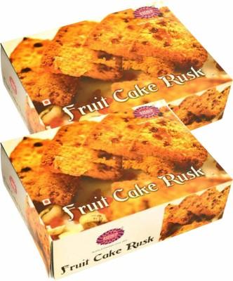 karachi bakery Fruit Cake Rusk Sweet flavored Cake Rusk(2 x 400 g)