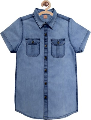 RODID Boys Solid Casual Blue Shirt RODID Kids' Shirts