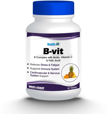 HealthVit B-VIT Vitamin B complex with bioton, Vitmain C and Folic acid(60 No)