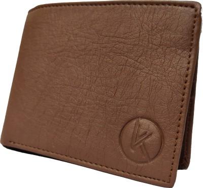 khurzcorp enterprises Men Tan Artificial Leather Wallet 10 Card Slots
