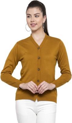 Kalt Women Button Self Design Cardigan