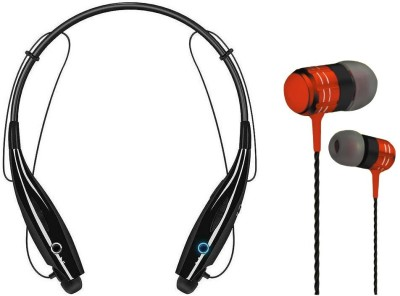 Oxhox Bluetooth Wireless Haedphone Stereo With Wired Earphone Combo Bluetooth Headset(Black, Red, Wireless in the ear)