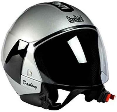 Steelbird SB-33 Eve Dashing Silver Motorbike Helmet(Silver)