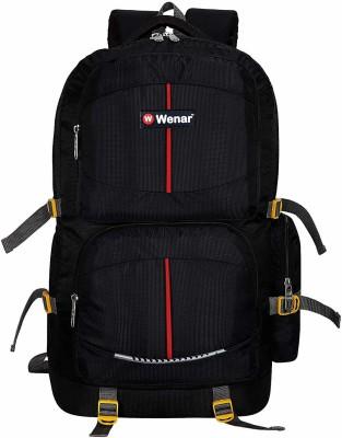 Wenar 55 Ltrs Trendy Camouflage Expandable Backpack Trekking Bag Rucksack  - 55 L(Black)