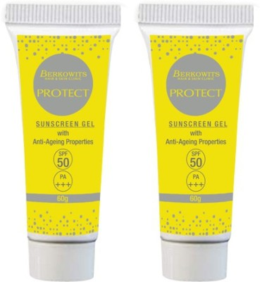 Berkowits Protect Sunscreen Gel For Oily Skin, Spf 50 (One plus One Offer) - SPF 50 PA+++(120 g)