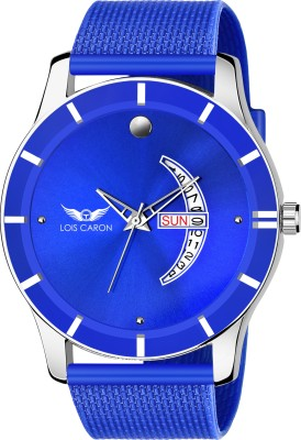 LOIS CARON LCS-8164 BLUE DIAL DAY & DATE FUNCTIONING WATCH Analog Watch  - For Boys