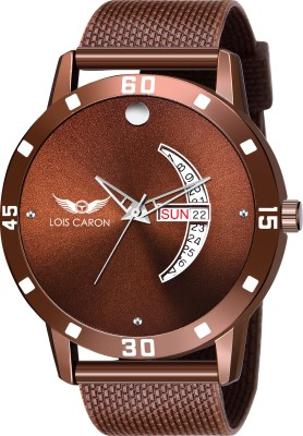 LOIS CARON LCS-8177 BROWN DIAL DAY & DATE FUNCTIONING WATCH Analog Watch  - For Men