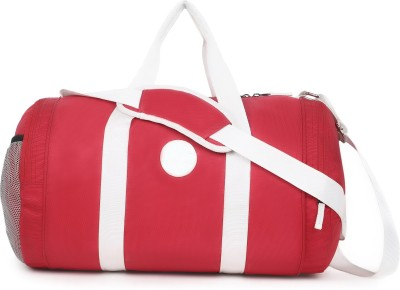 Veneer  Expandable  Stylish Duffels Travel Duffel Bag Red