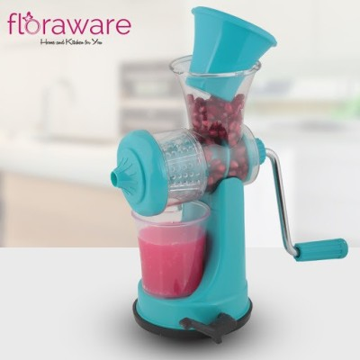 Floraware Plastic Hand Juicer Mini suction base(Blue Pack of 1)