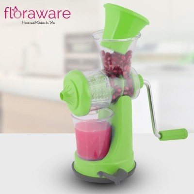 Floraware Plastic Hand Juicer Plastic Fruit and Vegetable hand Juicer With Vacuum Locking System, Green(Green Pack of 1)