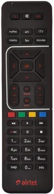 Airtel Digital TV DTH Remote SD and HD Recording Remote Controller(Black)