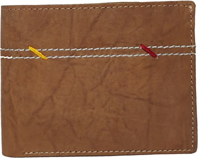 DIL KASH Men Brown Genuine Leather Wallet(5 Card Slots)