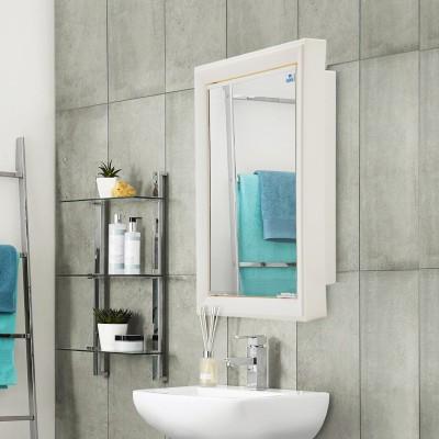 Nilkamal Gem Mirror Plastic Wall Mount Cabinet(Finish Color - Glossy)