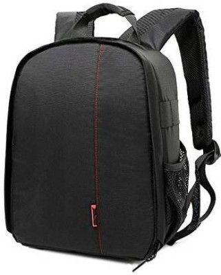 AMPLE ITALIA Shoulder Backpack to Carry DSLR SLR Lens Camera Bag (Orange, Black) Camera Bag (Black, orange)  Camera Bag(Black)