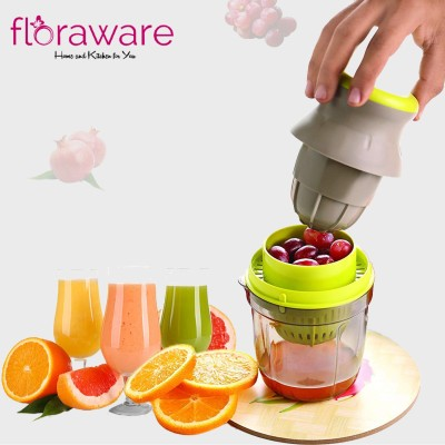 Floraware Plastic Hand Juicer Plastic 2 in 1 Hand Juicer, Multicolour(Green, Yellow Pack of 1)