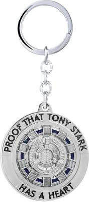"Relicon Iron Man ""Proof That Tony Stark has a Heart"" Marvel Avengers Superhero (Design-12) Silver Metal Keychain Key Chain"