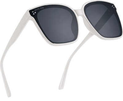 ROYAL SON Over-sized Sunglasses(Black, Clear)