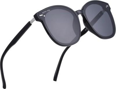 ROYAL SON Over-sized Sunglasses(Black)