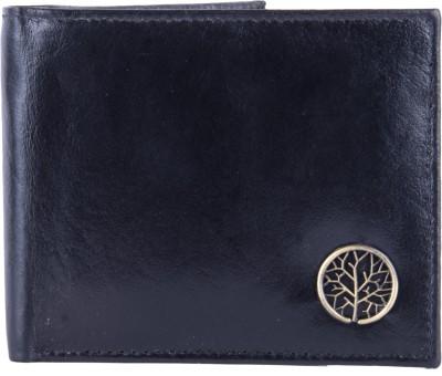 U+N Men Black Genuine Leather Wallet