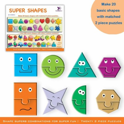 ToyKraft Super Shapes for 3 to 6 year-olds(40 Pieces)