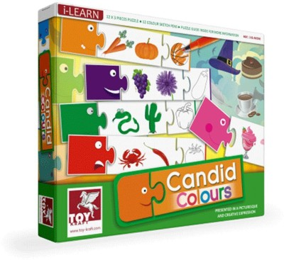 ToyKraft Candid Colours for Preschoolers for 3 year-olds and above(36 Pieces)