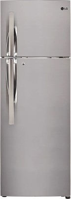 LG 260 L Frost Free Double Door 3 Star Convertible Refrigerator Shiny Steel, GL T292RPZN LG Refrigerators