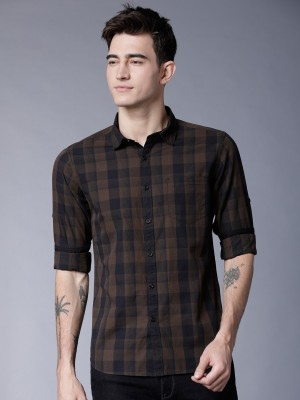 Highlander Men Checkered Casual Multicolor Shirt