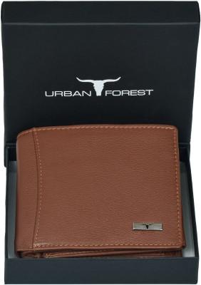 Urban ForestMen Tan Genuine Leather Wallet 6 Card Slots