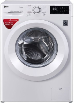 LG 6 kg Fully Automatic Front Load with In-built Heater White(FHT1006HNW)