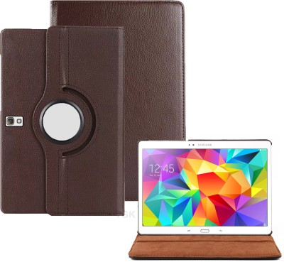TGK Book Cover for Samsung Galaxy Tab S 10.5 inch Model SM-T800, SM-T805, SM-T807, SM- T801 Rotating Leather Case(Brown, Cases with Holder)