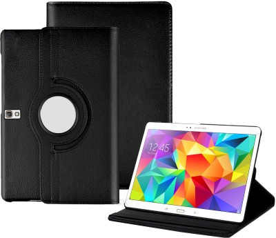 TGK Book Cover for Samsung Galaxy Tab S 10.5 inch Model SM-T800, SM-T805, SM-T807, SM- T801 Rotating Leather Case(Black, Cases with Holder)