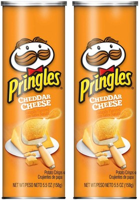 Pringles Cheddar Cheese Potato Chips 158g (Pack of 2) Chips(2 x 158 g)