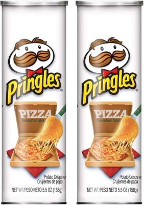 Pringles Pizza Potato Chips 158g (Pack of 2) Chips(2 x 158 g)