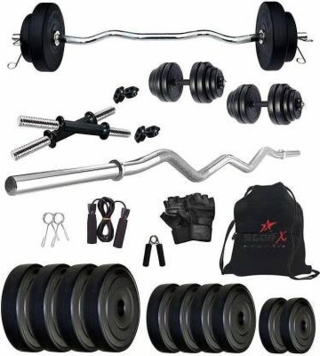 Star X 20 kg Home Gym Combo with 3ft Rods, Dumbbells and Accessories Gym & Fitness Kit