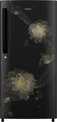 Haier 195 L Direct Cool Single Door 4 Star Refrigerator(Black Blossom, HRD-1954CKB-E)