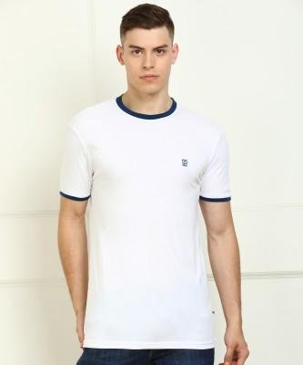 Billion Solid Men Round Neck White T-Shirt