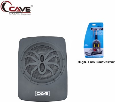 Cave RJ-492 180-Watts RMS Underseat 10-inch Active Aluminium Car Subwoofer with Inbuilt Amplifier and Bass Contoller With Adjustable RCA Line...